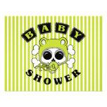 Cute Baby Boy Skull - Lime Green Invitations