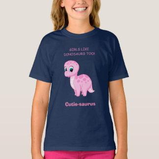 Cute Baby Brontosaurus Girls Like Dinosaurs Too T-Shirt
