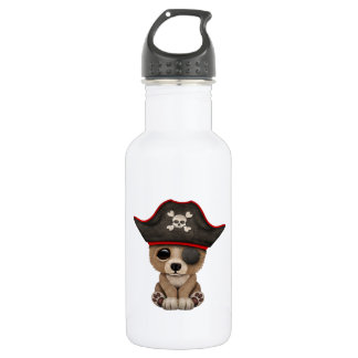 Cute Baby Brown Bear Cub Pirate 532 Ml Water Bottle