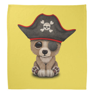 Cute Baby Brown Bear Cub Pirate Bandana