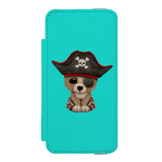 Cute Baby Brown Bear Cub Pirate Incipio Watson™ iPhone 5 Wallet Case