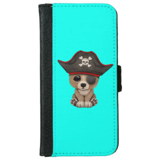 Cute Baby Brown Bear Cub Pirate iPhone 6 Wallet Case