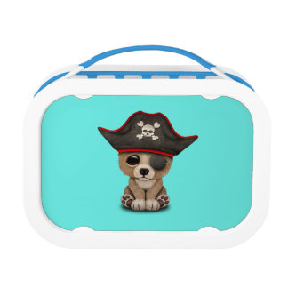 Cute Baby Brown Bear Cub Pirate Lunch Box