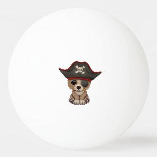 Cute Baby Brown Bear Cub Pirate Ping Pong Ball