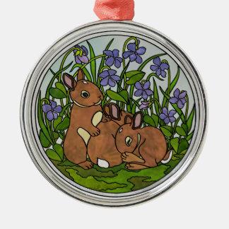 Cute Baby Bunnies Ornament