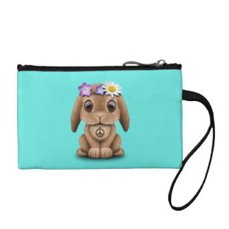 Cute Baby Bunny Hippie Coin Purse