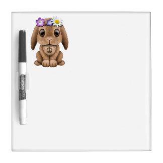 Cute Baby Bunny Hippie Dry Erase Board