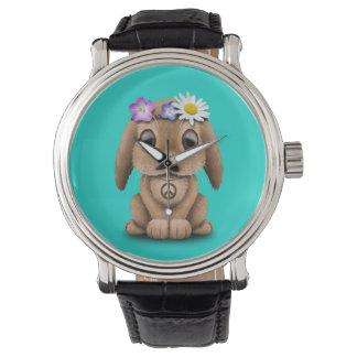 Cute Baby Bunny Hippie Watch