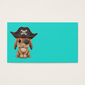 Cute Baby Bunny Pirate Business Card