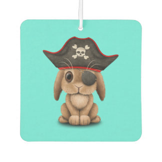 Cute Baby Bunny Pirate Car Air Freshener