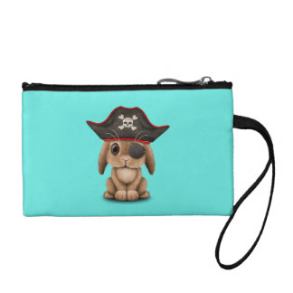 Cute Baby Bunny Pirate Coin Purse