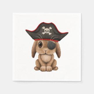 Cute Baby Bunny Pirate Disposable Serviette
