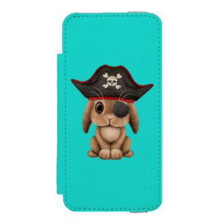 Cute Baby Bunny Pirate Incipio Watson™ iPhone 5 Wallet Case
