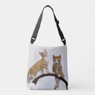 Cute Baby Cat Kitten Funny Gym Photo on Crossbody Bag