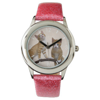 Cute Baby Cats Kittens Funny Gym Photo  dial-plate Watch