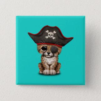 Cute Baby Cheetah Cub Pirate 15 Cm Square Badge