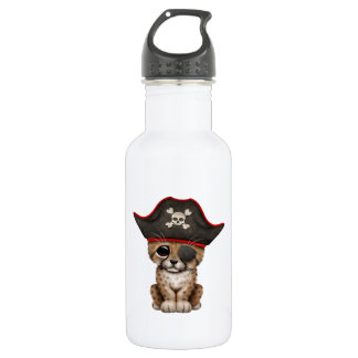Cute Baby Cheetah Cub Pirate 532 Ml Water Bottle