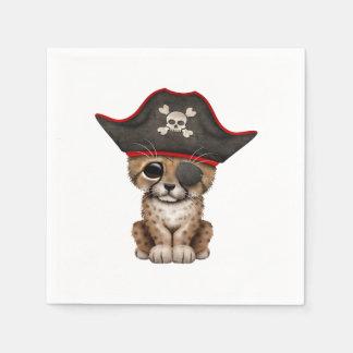 Cute Baby Cheetah Cub Pirate Disposable Serviette