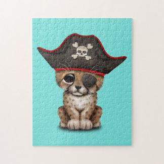 Cute Baby Cheetah Cub Pirate Jigsaw Puzzle