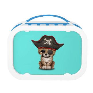 Cute Baby Cheetah Cub Pirate Lunch Box