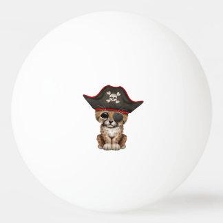 Cute Baby Cheetah Cub Pirate Ping Pong Ball