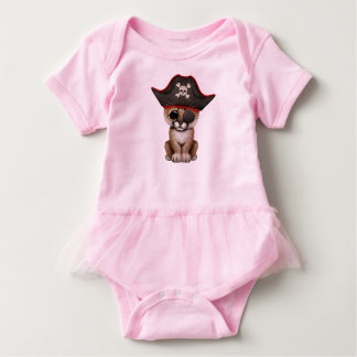 Cute Baby Cougar Cub Pirate Baby Bodysuit