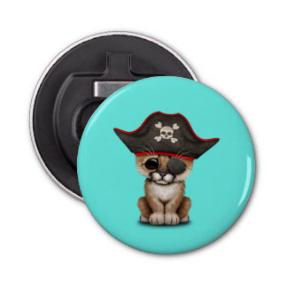 Cute Baby Cougar Cub Pirate Bottle Opener