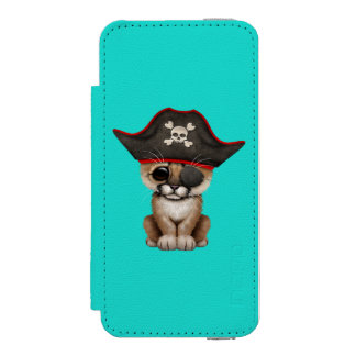 Cute Baby Cougar Cub Pirate Incipio Watson™ iPhone 5 Wallet Case