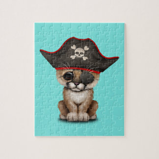 Cute Baby Cougar Cub Pirate Jigsaw Puzzle