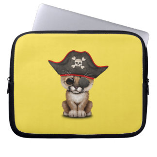 Cute Baby Cougar Cub Pirate Laptop Sleeve
