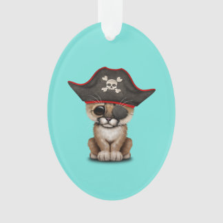 Cute Baby Cougar Cub Pirate Ornament