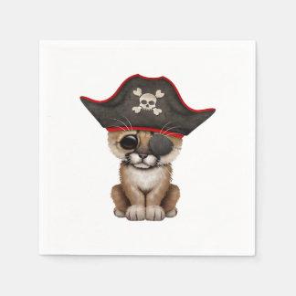 Cute Baby Cougar Cub Pirate Paper Napkin