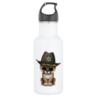 Cute Baby Cougar Cub Sheriff 532 Ml Water Bottle