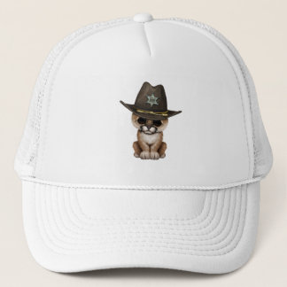 Cute Baby Cougar Cub Sheriff Trucker Hat
