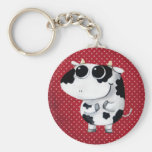 Cute Baby Cow Basic Round Button Key Ring