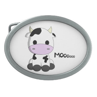 Cute baby cow cartoon belt buckle