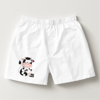 Cute Baby Cow Cartoon Boxers