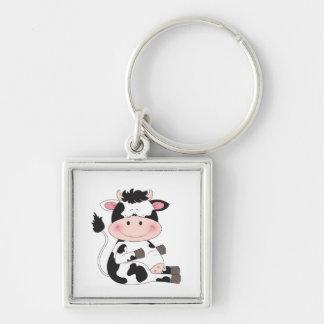 Cute Baby Cow Cartoon Key Ring