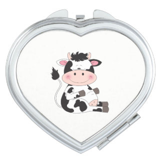 Cute Baby Cow Cartoon Mirror For Makeup