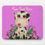 Cute Baby Cow Customisable Mousepad