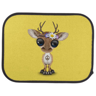 Cute Baby Deer Hippie Car Mat