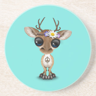 Cute Baby Deer Hippie Coaster