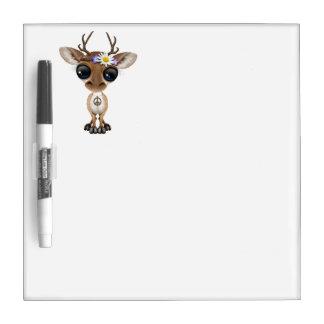 Cute Baby Deer Hippie Dry Erase Board