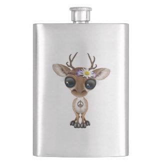 Cute Baby Deer Hippie Hip Flask