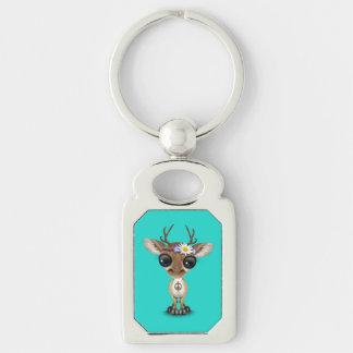 Cute Baby Deer Hippie Key Ring