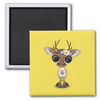 Cute Baby Deer Hippie Magnet