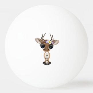 Cute Baby Deer Hippie Ping Pong Ball