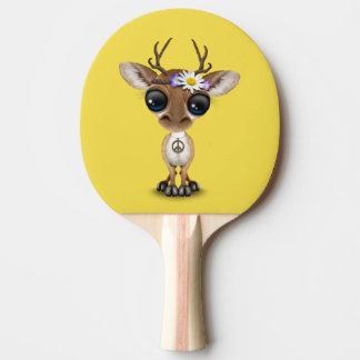 Cute Baby Deer Hippie Ping Pong Paddle