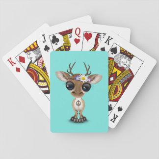 Cute Baby Deer Hippie Playing Cards