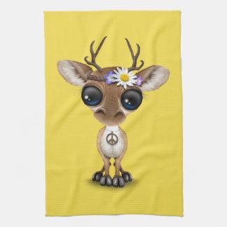 Cute Baby Deer Hippie Tea Towel